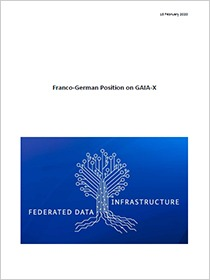 Cover des Downloads Franco-German position on GAIA-X
