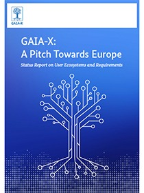 "Cover of the publication ""GAIA-X: A Pitch Towards Europe"""