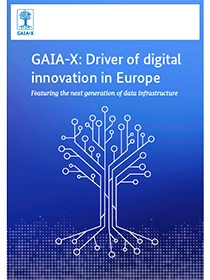 "Cover of the publication ""GAIA-X: Driver of digital innovation in Europe"""