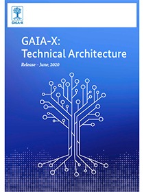 "Cover of the publication ""GAIA-X: Technical Architecture"""