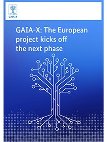 "Cover of the publication ""GAIA-X: The European project kicks of the next phase"""
