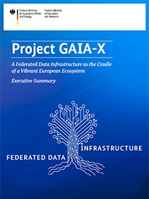 """Cover of the publication """"Project GAIA-X - Executive Summary"""""""